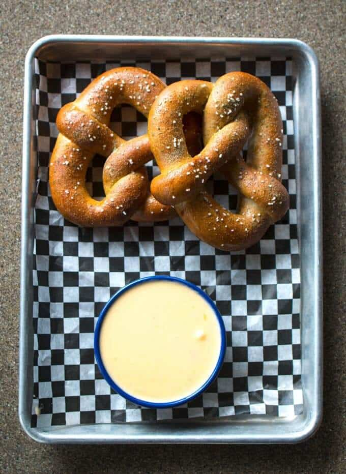 Pretzels with Cheese Gaby's By the Lake