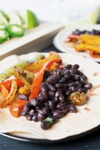 Vegan For A Day and Vegan Black Bean Fajitas Recipe