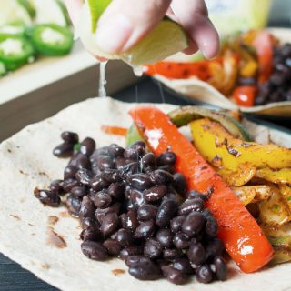 Vegan Black Bean Fajitas