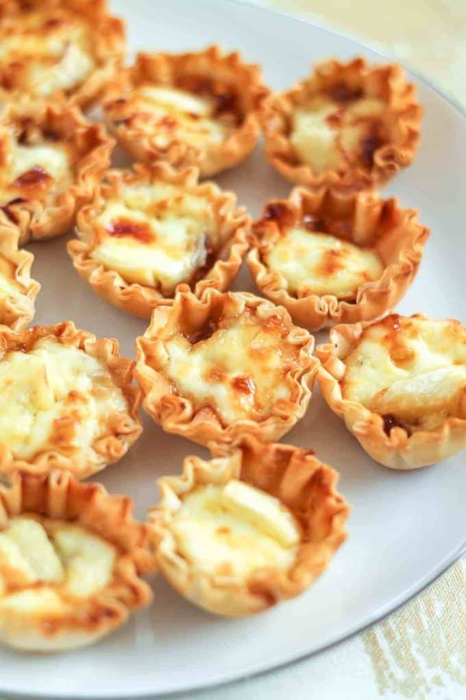 Best Honey Recipes - Honey Fig and Brie Phyllo Cups
