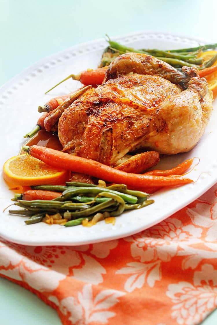 Best Honey Recipes - Orange Honey Roast Chicken