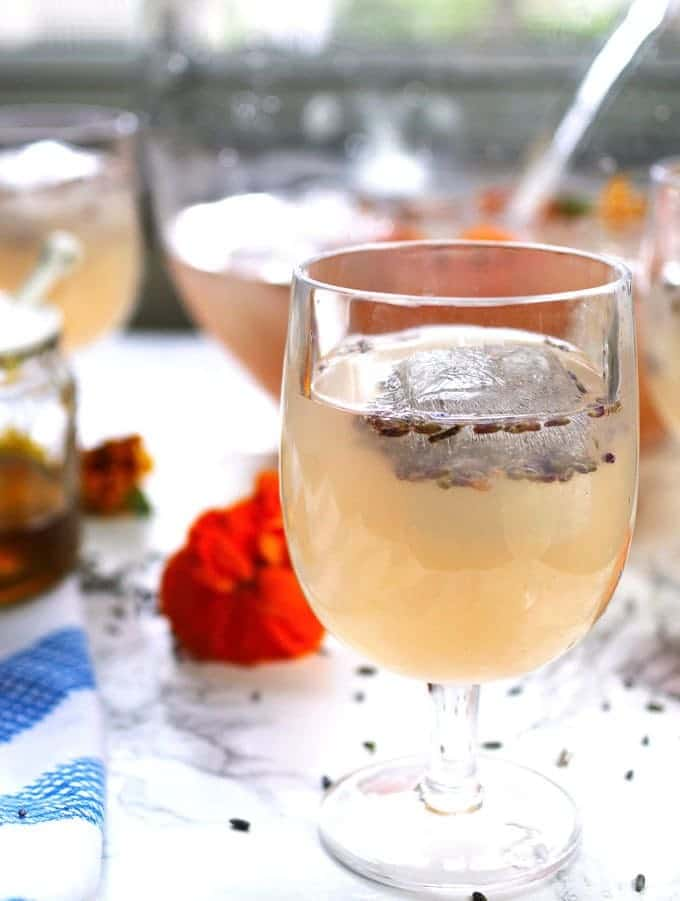 Best Honey Recipes - Boozy Honey Lavender Lemonade