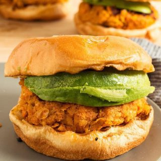 Vegan Sweet Potato Garbanzo Bean Burger