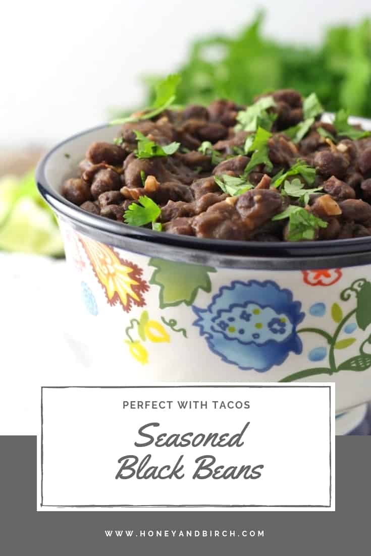 seasoned black beans Pinterest pin