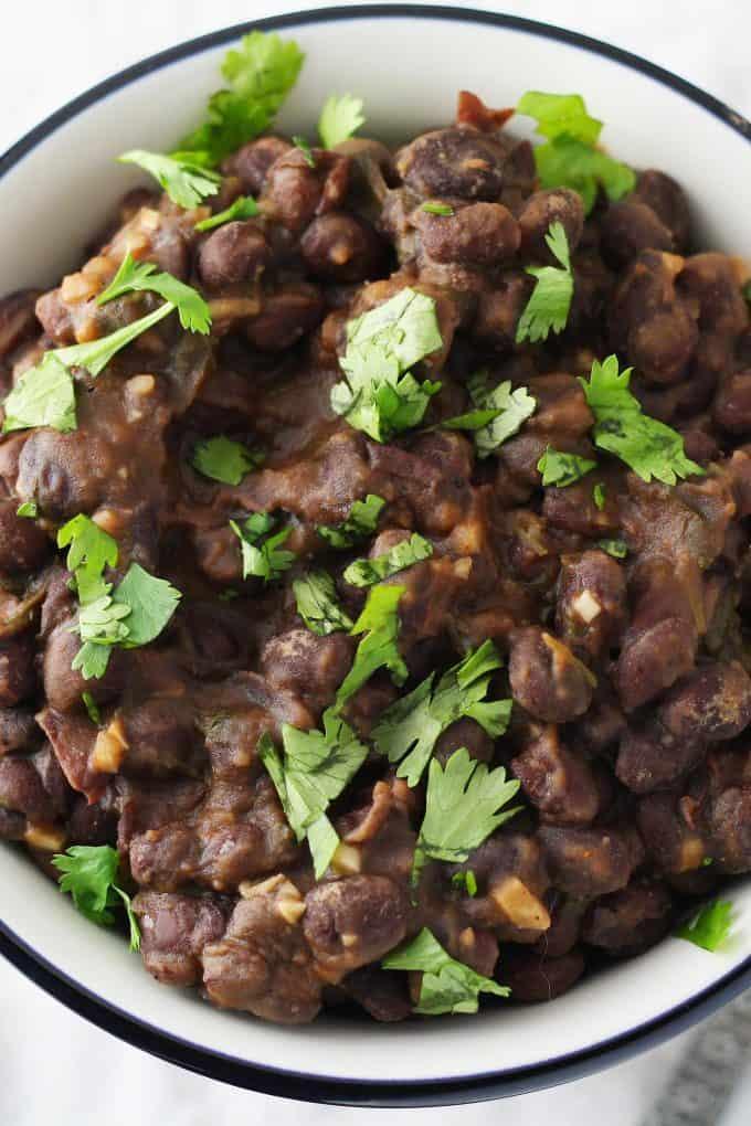 seasoned black beans in a bowl