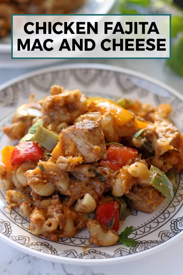 chicken fajita Mac and cheese pin