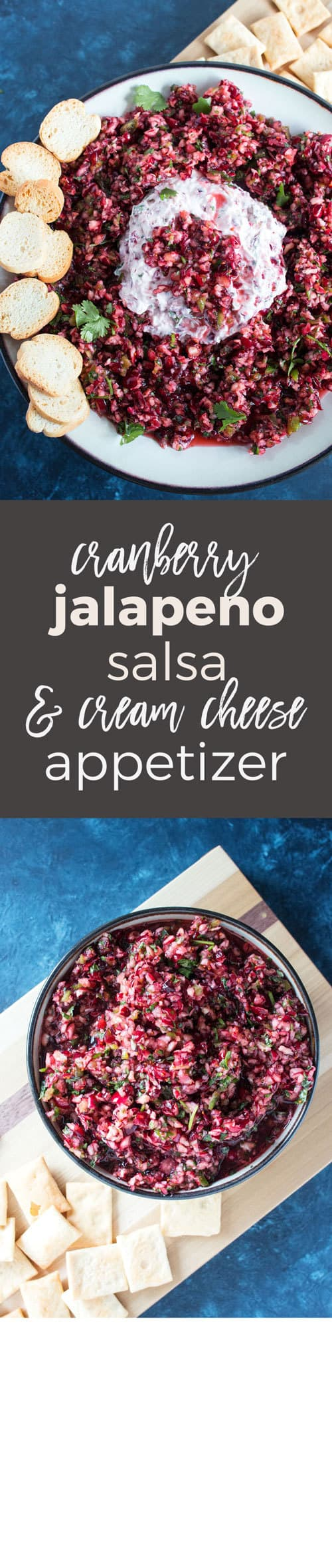 This cranberry jalapeño cream cheese appetizer is the perfect easy addition to your Thanksgiving table! It's no-cook and can be ready in 10 minutes.