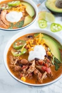 Creamy Chicken Taco Soup