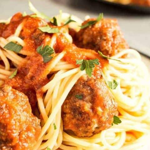 Easy Homemade Spaghetti and Meatballs