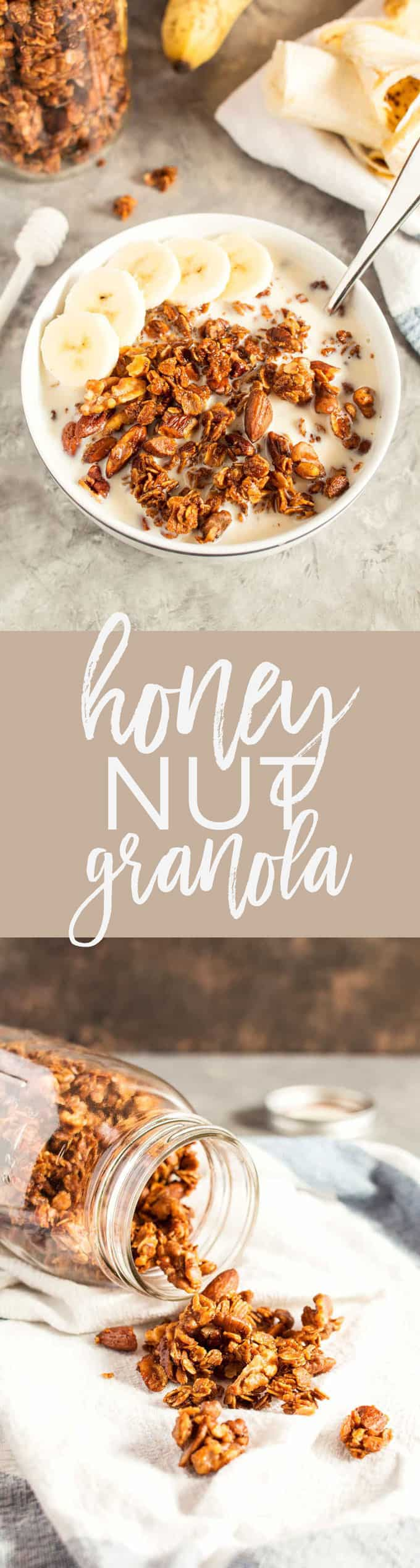 honey nut granola recipe pin