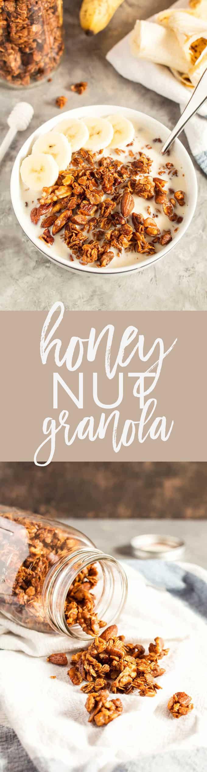 honey nut granola recipe pin