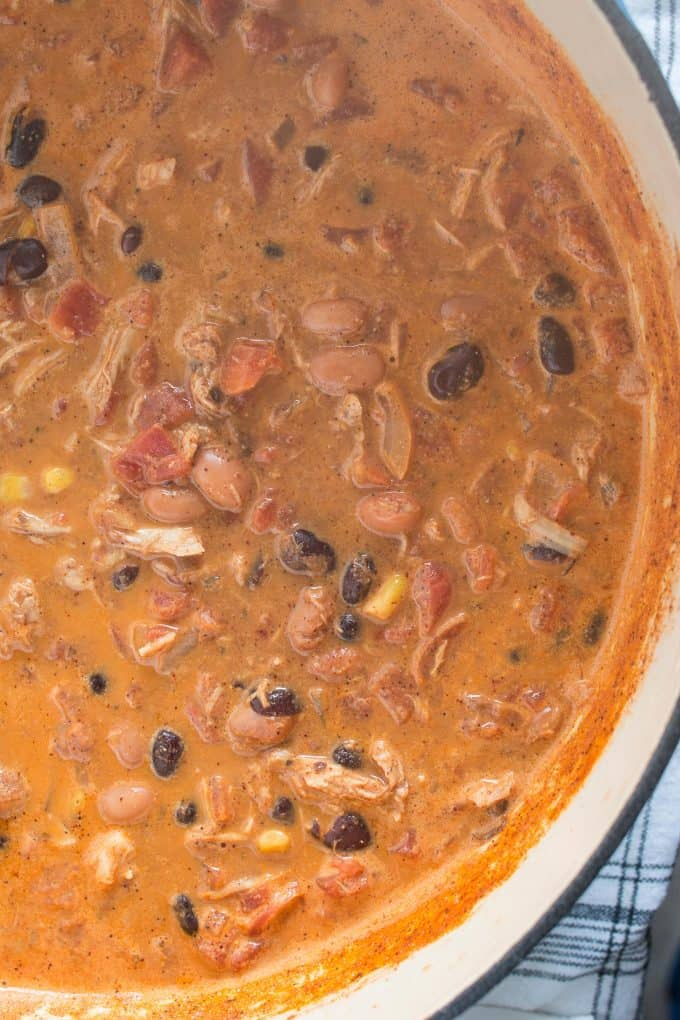 chicken taco soup with steam