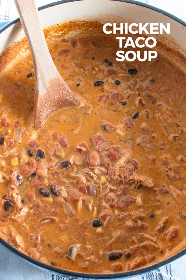 chicken taco soup picture for pinterest