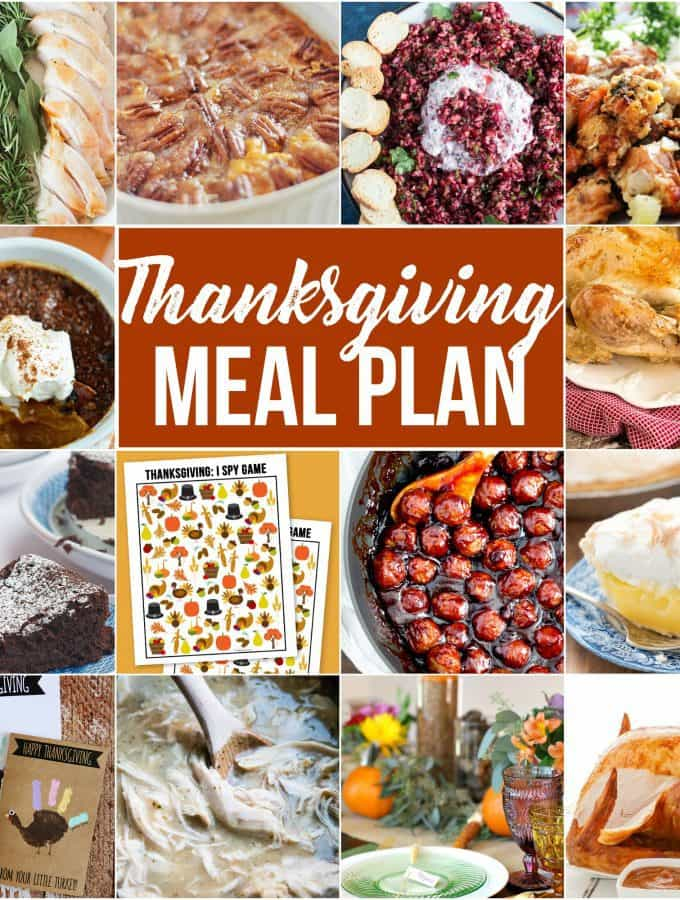 Thanksgiving Meal Plan