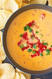 photo of tomato queso dip