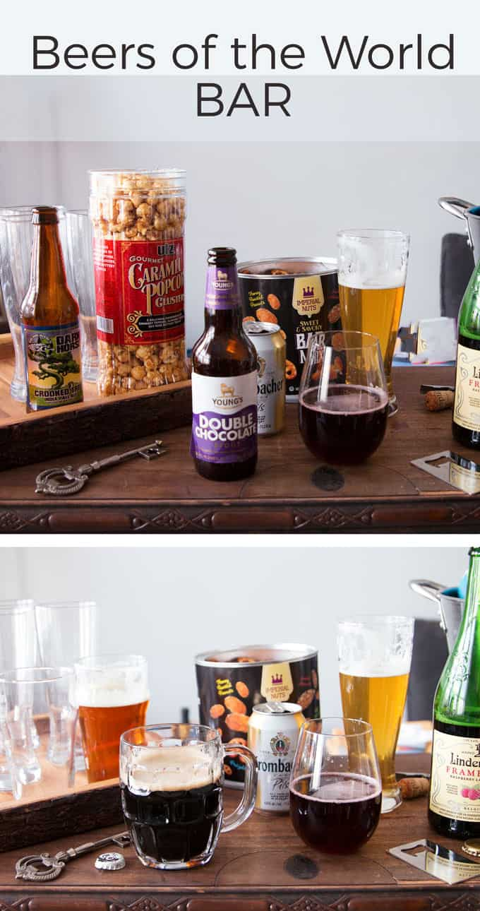 Beers of the World Bar Pinterest image