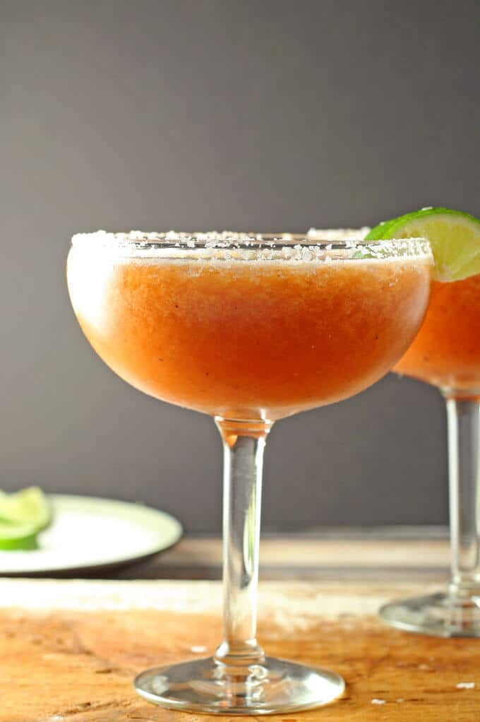 picture of a single bloody margarita