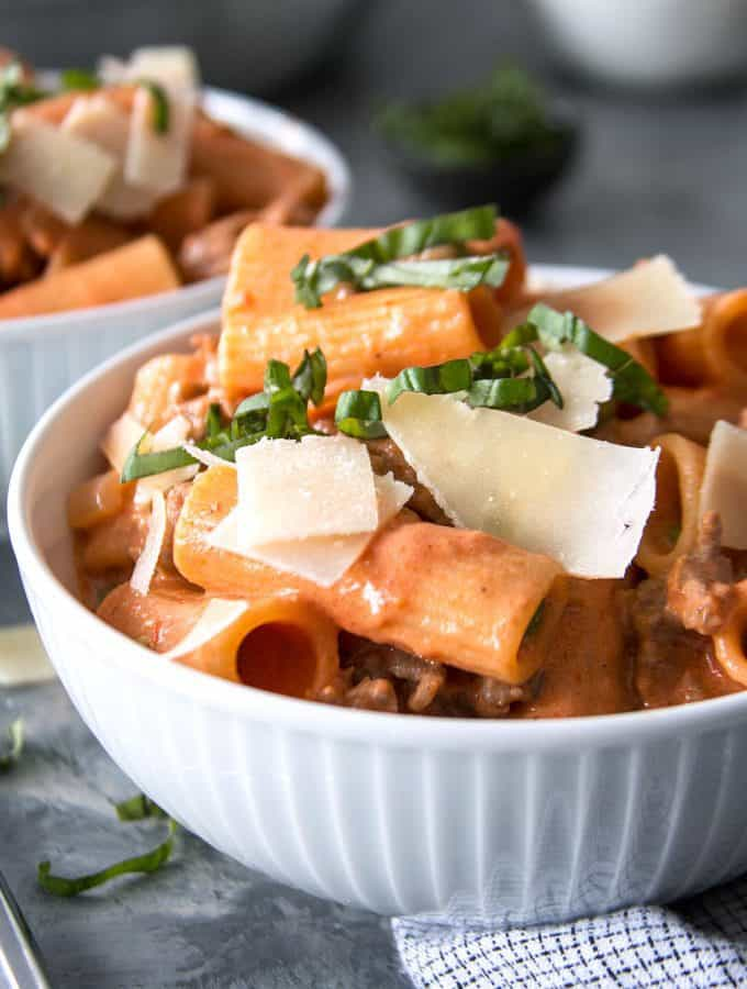 photo of country style rigatoni