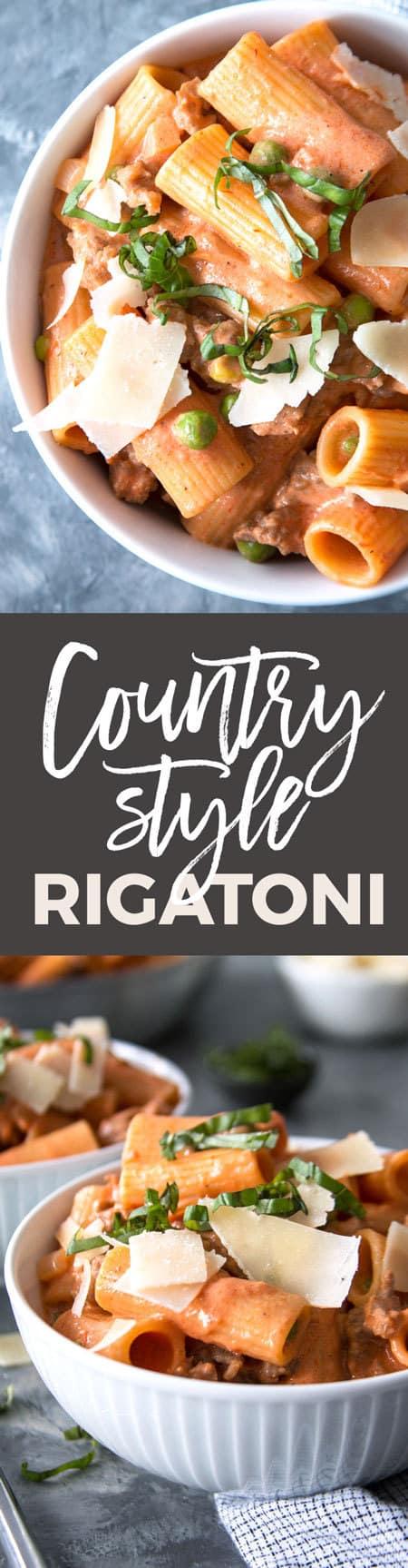 Country-Style Rigatoni Recipe pin