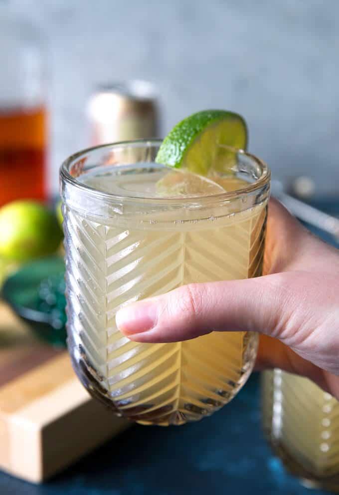 Kentucky mule in a glass being held