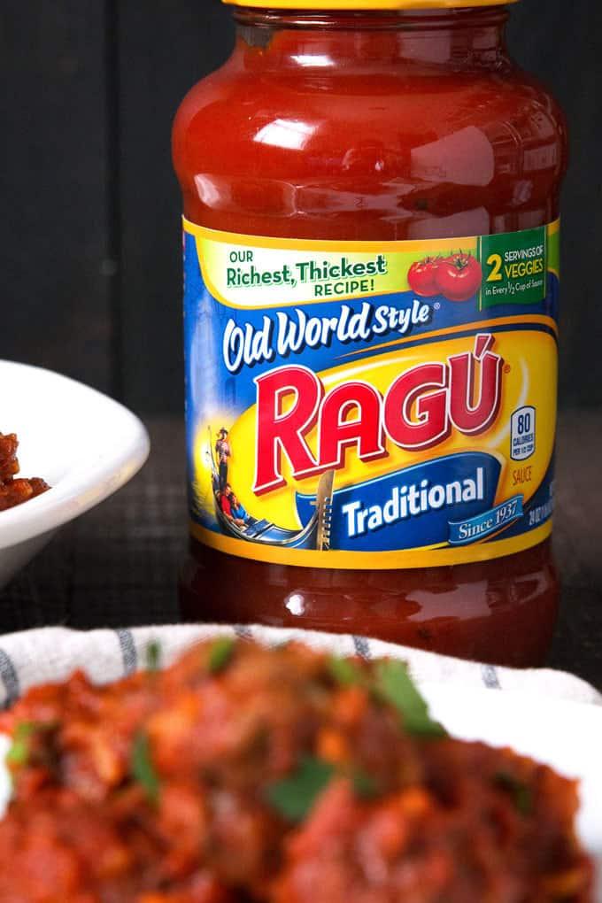 Jar of RAGU Old World Style Traditional Sauce