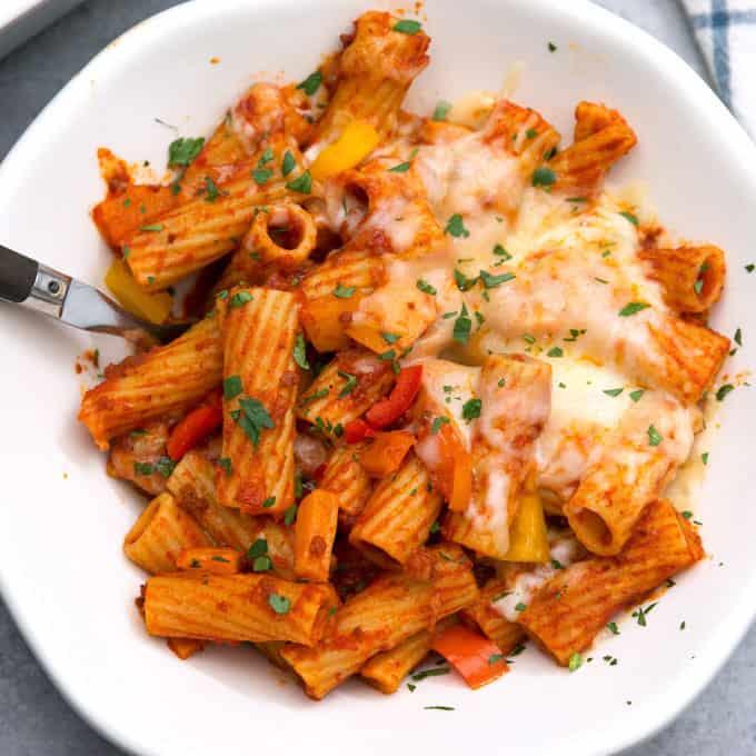 picture of chorizo rigatoni casserole