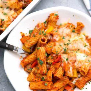 Chorizo Rigatoni Casserole