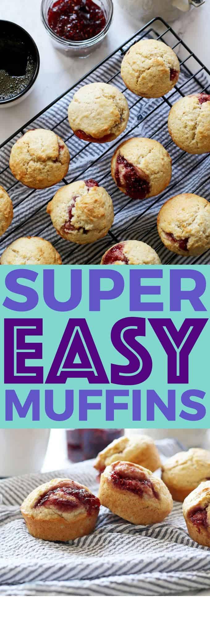 super easy muffin recipe pin