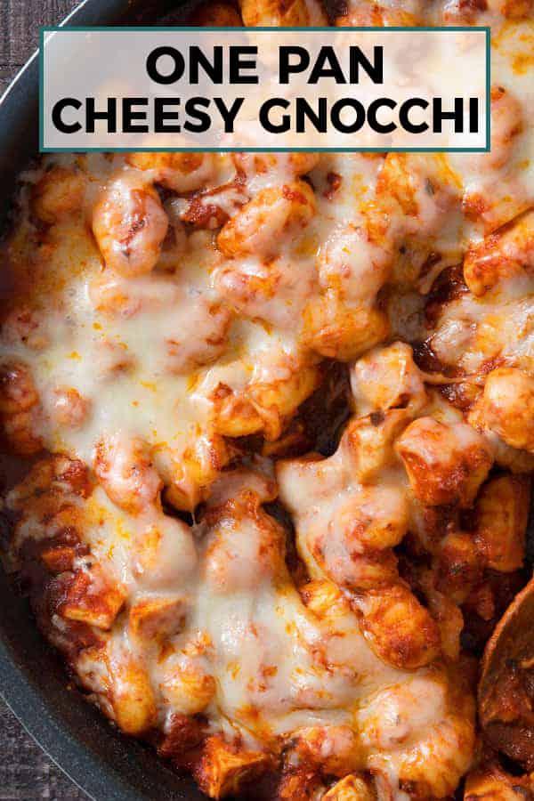 one pan cheesy gnocchi pin