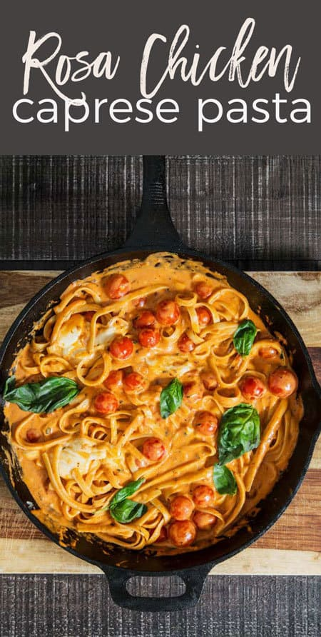 Rosa Chicken caprese pasta long pin