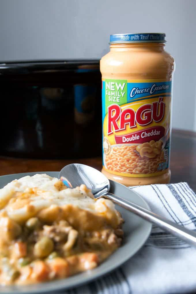 jar of ragu family size double cheddar sauce