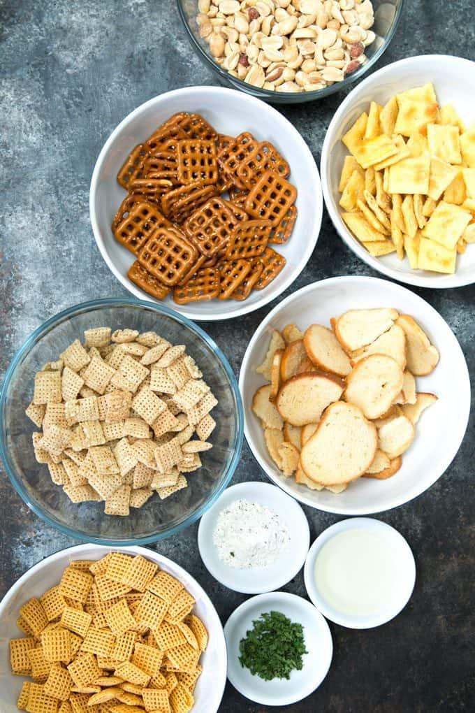 ranch snack mix ingredients