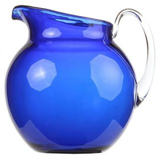 Lily's Home Shatterproof Plastic Indoor Outdoor Pitcher Large Capacity 110 Ounce - Blue