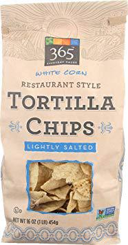 365 Everyday Value, White Corn Restaurant Style Tortilla Chips, Lightly Salted, 16 oz