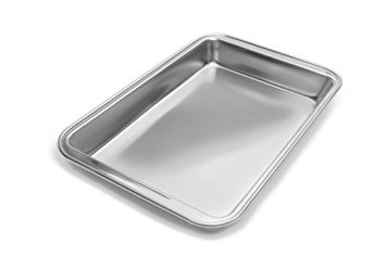 Fox Run 44928 Bake Pan, Stainless Steel, 12.375-Inch x 8-Inch