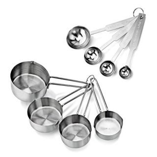Stainless Steel 4pcs Measuring Cups and Spoons Combo Set