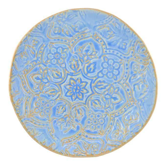 Merritt Artisan Tile 9.5-inch Melamine Dinner Plate, Oceana