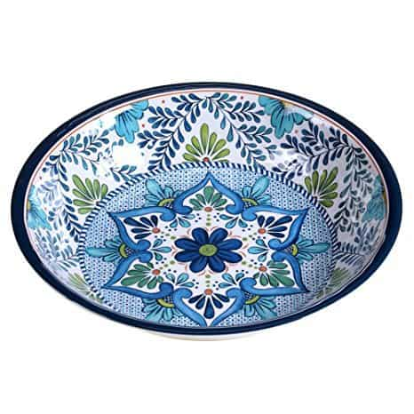 "Certified International Talavera Melamine 13.75"" x 2.75"" Large Serving Bowl, Multicolor"