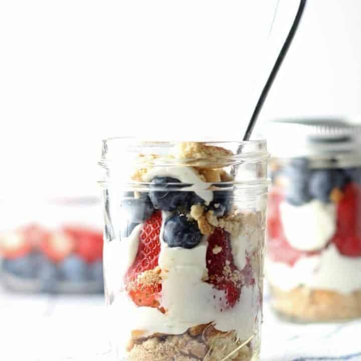 Red White and Blue Cheesecake Parfait Recipe