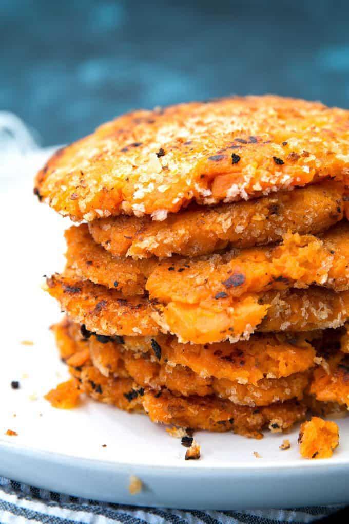 fried sweet potato pancakes