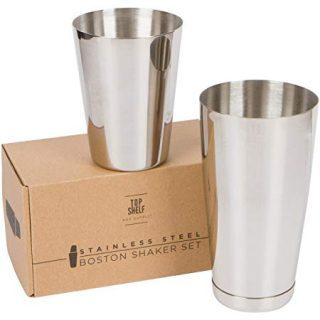 Stainless Steel Boston Shaker: 2-piece Set: 18oz Unweighted & 28oz Weighted Professional Bartender Cocktail Shaker