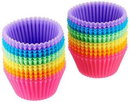 Reusable Silicone Baking Cups, Pack of 24