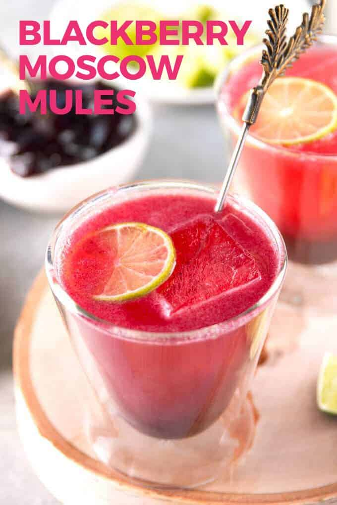 blackberry Moscow mule pin