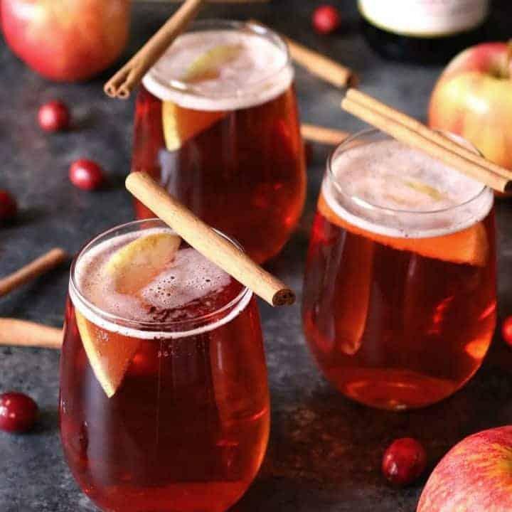 Cranberry Apple Cider Mimosa