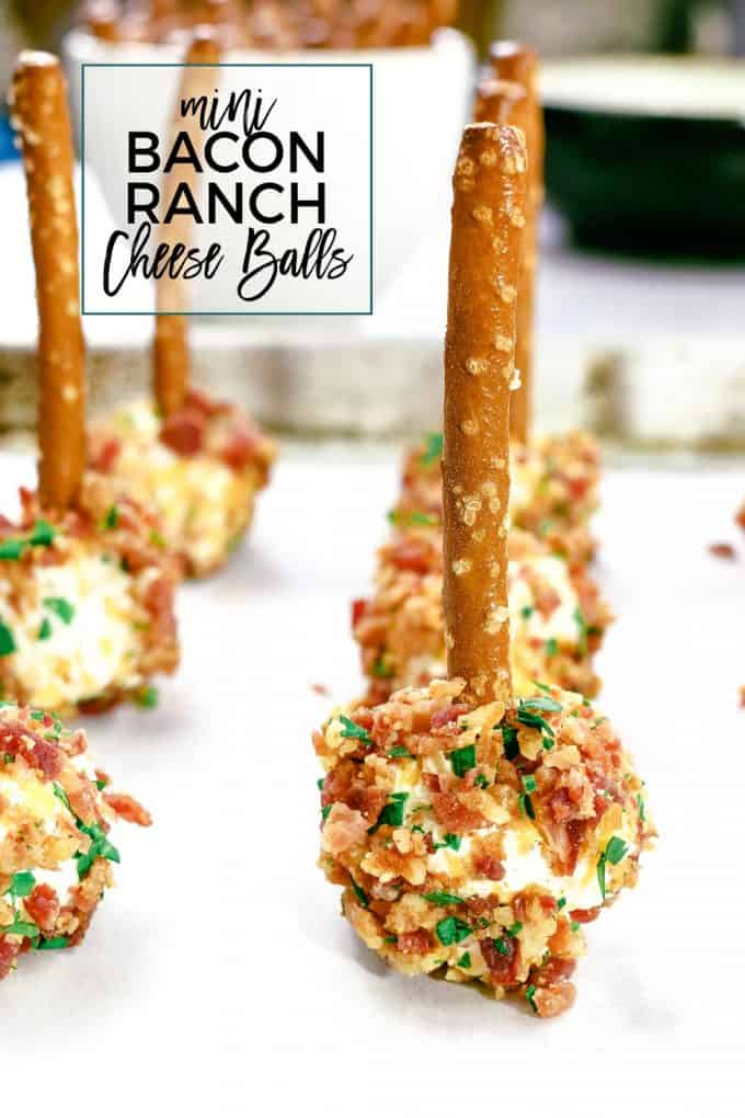 mini bacon ranch cheese balls Pinterest image