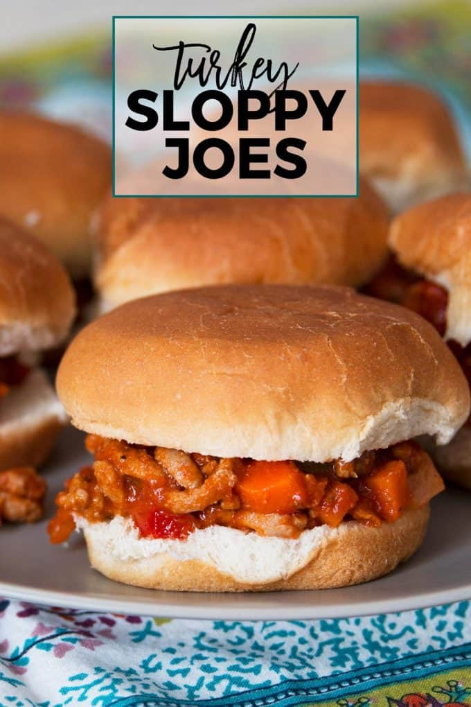 ground turkey sloppy joes pinterest image