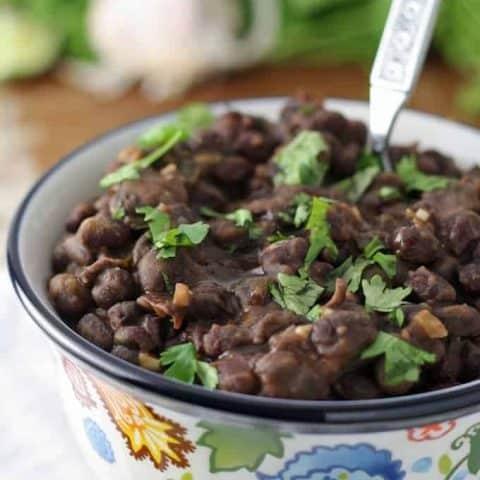 Seasoned Black Beans Side Dish
