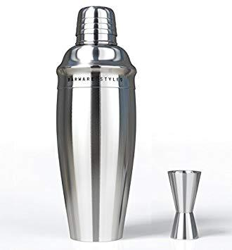 Barware Styles Classic and Elegant Stainless Steel 3-Piece Martini and Cocktail Shaker Set