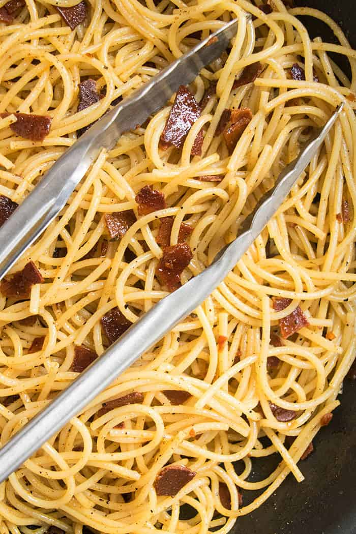 18 Easy Pasta Dinner Recipes - Simple Bacon Pasta