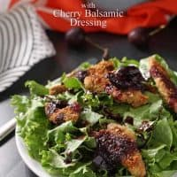 Duck Tender Salad with Cherry Balsamic Dressing